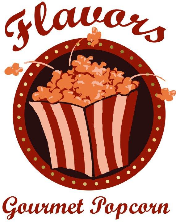 Branding: Flavors Gourmet Popcorn Logo Design | Foi Designs