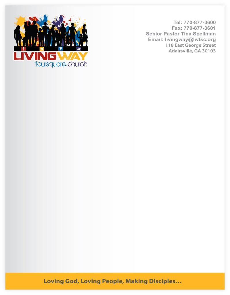 foi designs livingway foursquare church letterhead