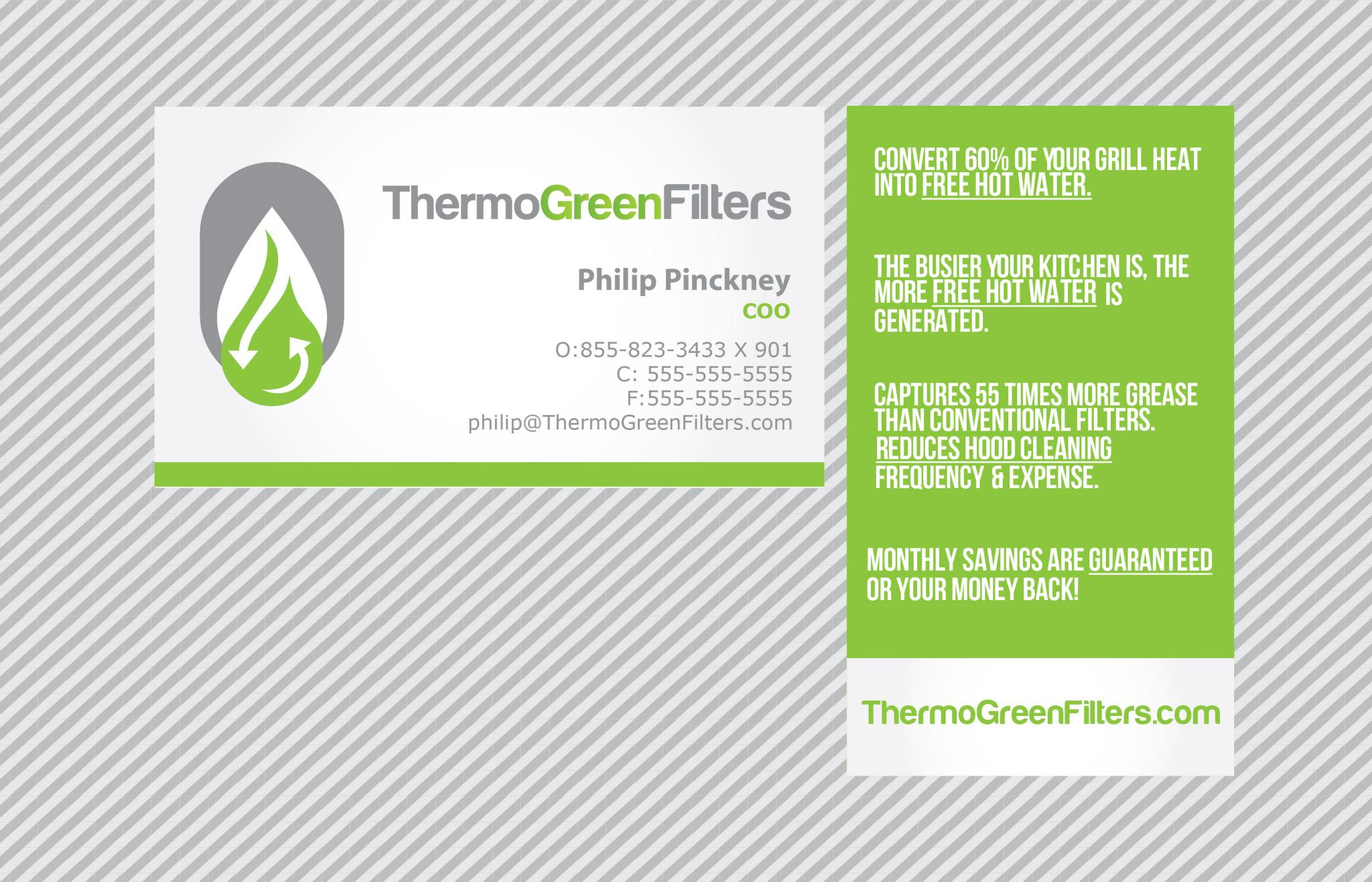 Thermo green filters business card design foi designs thermo green filters business card design magicingreecefo Image collections