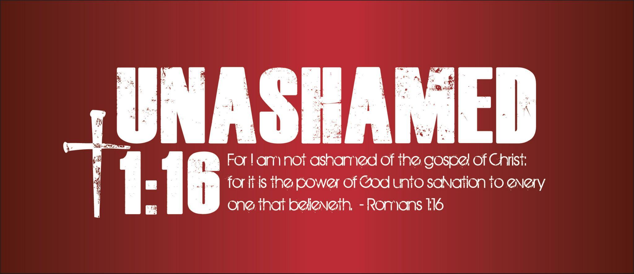 Unashamed Logo Unashamed 1:16 Banner ...